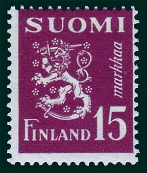 FI02952 Finland Scott # 295 MH, Arms of the Republic 1950