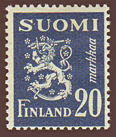 FI02962 Finland Scott # 296 MH, Arms of the Republic 1950