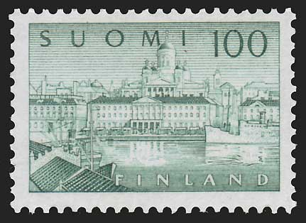 FI03572 Finland Scott # 357 F-VF MH, View of Helsinki 1958