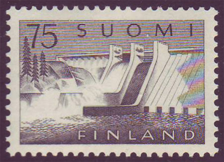 FI03631 Finland Scott # 363 VF MNH, Power Station 1959