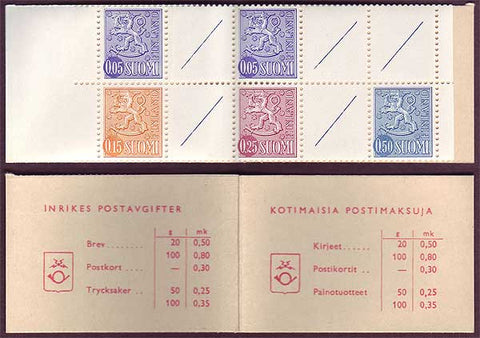 FI0464c1 Finland Scott # 464c MNH, Slot-machine booklet 1968-78