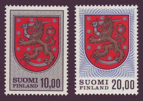 FI0470,74A Finland Scott # 470 + 470A MNH, Coats of Arms Definitives 1974