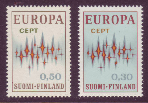 FI0512-131 Finland Scott # 512-13 VF MNH, Common Design - Europa 1972