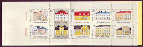 FI06721 Finland Stamp # 672 booklet, Manor Houses 1982