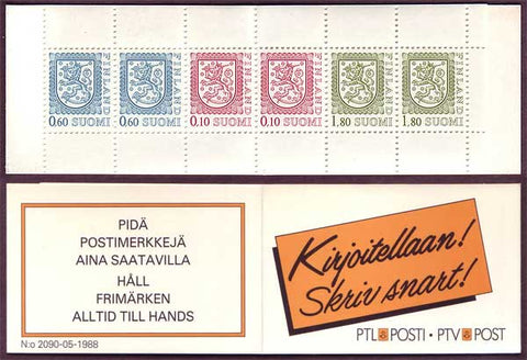 FI0713a.11 Finland Scott # 713a MNH, Slot-machine Booklet 1985-90