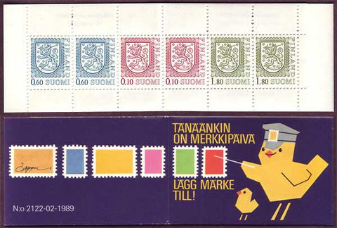 FI0713a1 Finland Scott # 713a MNH, Slot-machine Booklet 1985-90