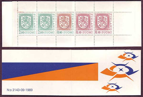 FI0715a1 Finland Scott # 715a MNH, Slot-machine Booklet 1985-90
