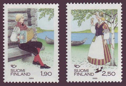 FI0797-981 Finland Scott # 797-98 VF MNH, Folk Costumes 1989