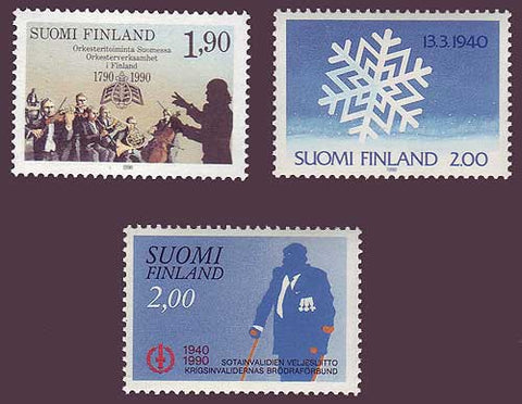FI0812-14 Finland Scott # 812-14 VF MNH, Commemoratives 1990
