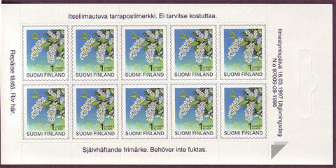 FI0843a1 Finland Stamps # 843a MNH, Bird Cherry 1990-99
