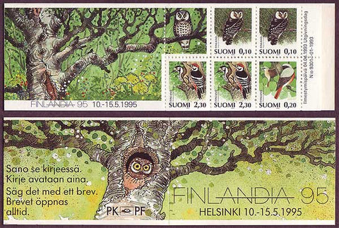 FI0859a1 Finland Scott # 859a MNH, Slot-machine Booklet 1993