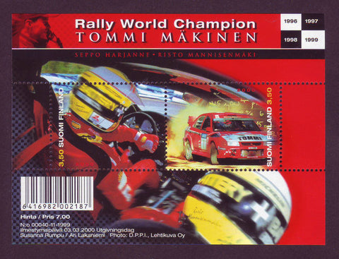 FI1125 Finland Scott # 1125  MNH, Tommi Makinen - Rally Champion 2000