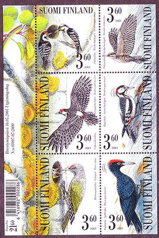 FI1156 Finland Scott # 1156 MNH, Woodpeckers 2001