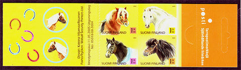 FI1239 Finland Stamps # 1239 booklet MNH, Horses and Ponies 2005