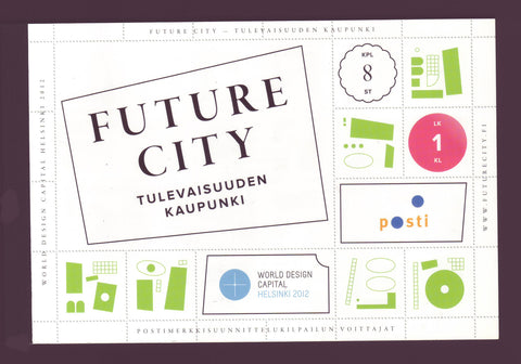 FI1401a  Finland Scott # 1401a MNH, Future City Deluxe Booklet 2012