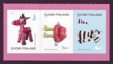 Copy of FI1547 Finland Scott # 1547. Strip of 3 Sculpted Figurines MNH 2017