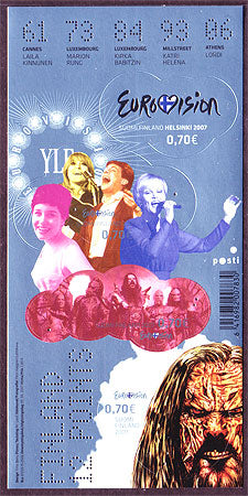 FI1291 Finland Stamp # 1291 MNH, Eurovision Song Contest 2007