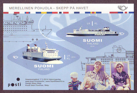 FI1458 Finland Scott # 1458 MNH, Ships at Sea 2014
