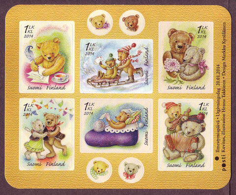 FI1453 Finland Scott # 1453 MNH, Teddy Bears 2014
