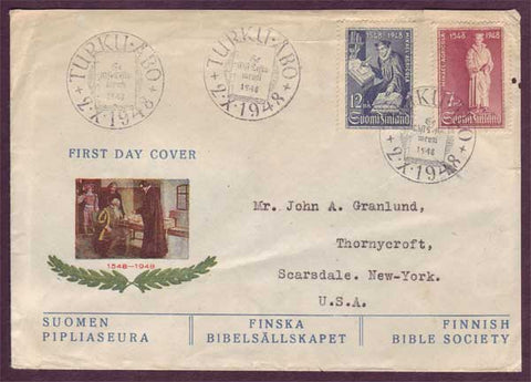 FI5045PH Finland First Day Cover  to USA