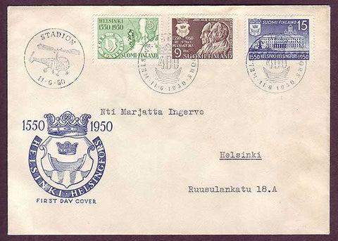 FI5047PH Finland FDC - Founding of Helsinki 1950