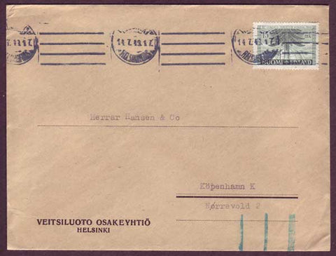 FI5048PH Finland - Business mail to Denmark 1949