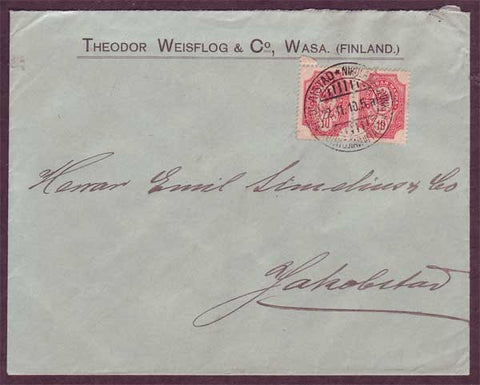 FI5057PH Finland Domestic business mail 1910