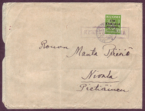 FI5064PH Finland -      East Karelia       Military mail 1944