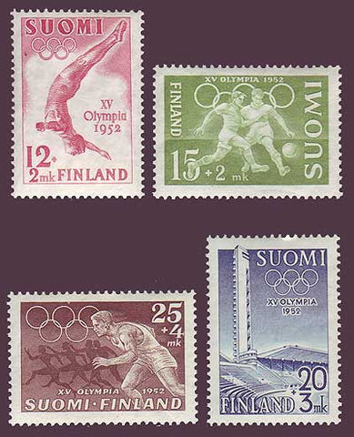 FIB110-131 Finland Scott # B110-13 VF MNH, Olympic Games 1952