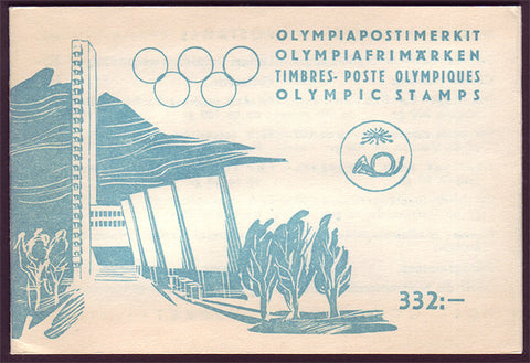FIB113a Finland Scott # B110-13 booklet, Olympic Games 1952