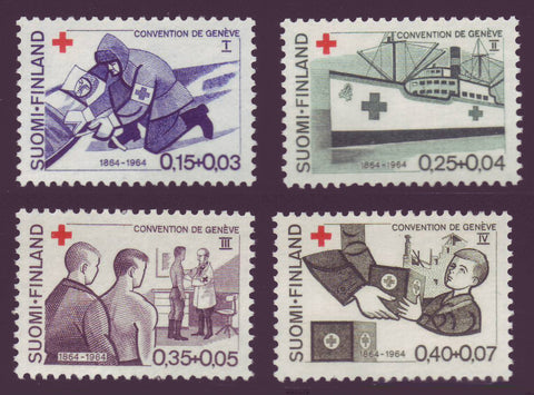FIB169-721 Finland Scott # B169-72 MNH**, Red Cross 1969