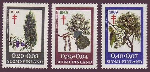 FIB185-871 Finland Scott # B185-87 VF MNH,  Trees 1967