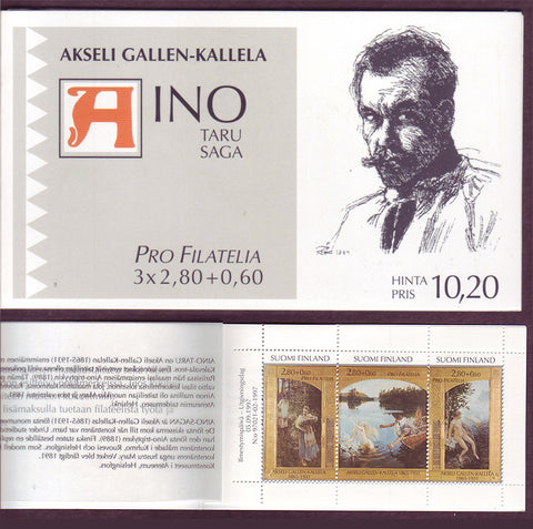 FIB259aab1 Finland Scott # B259 booklet MNH, The Aino Myth 1997