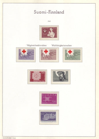002 Definitive and Commemorative Stamps of Finland 1963 MNH.