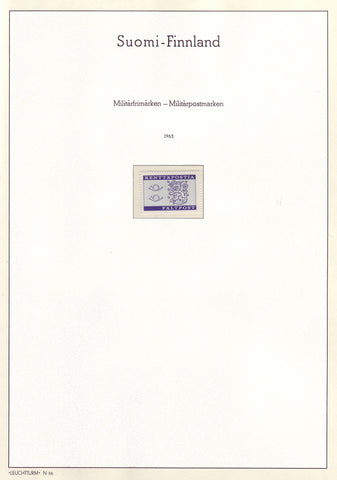 006 Definitive and Commemorative Stamps of Finland 1963 MNH.