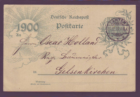 GE003 Germany Millenium Postal Stationery Card 1900