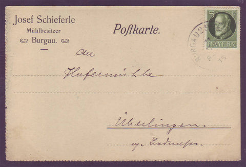GE008 Bavaria  Postal Stationery Card 1915