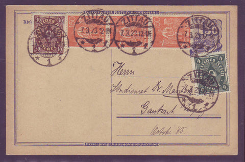 GE009 Germany  Postal Stationery Card 1923