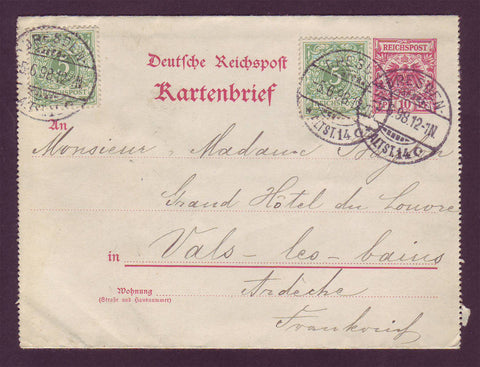 GE011 Germany  Letter Card 1898