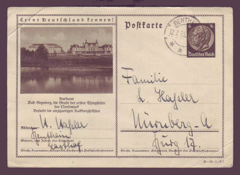 GE014 Germany  Postcard 1935