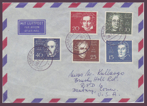 GE015 Germany,  Letter to USA 1960, German Composers