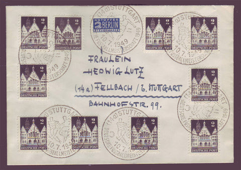 GE018 Germany,  Local letter with Football cancel 1949
