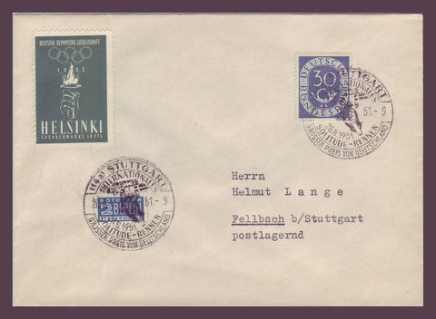 GE020 Germany,  Commemorative Cover 1951