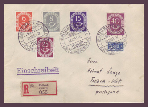 GE023 Germany,  Registered Commemorative Cover 1953