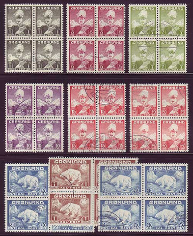 GR0001-09x45 Greenland Scott # 1-9 VF Used