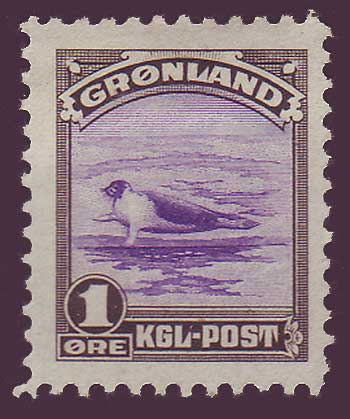 GR00102 Greenland Scott # 10 VF MH, from the American Issue 1945