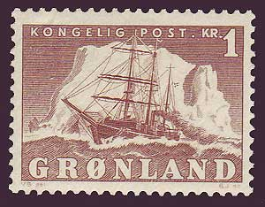 GR00361 Greenland Scott # 36 VF MNH, 1kr Polar Ship