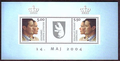 GR0430a Greenland  Scott # 430a VF MNH, Royal Wedding 2004