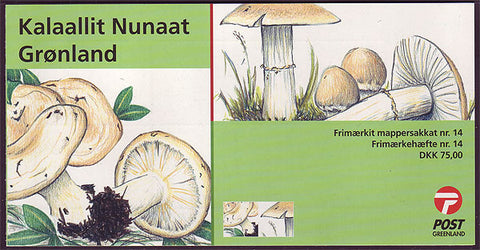 Greenland Scott # 480a booklet MNH, Mushrooms 2006