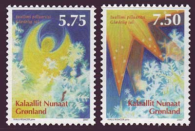 GR0507-08 Greenland Scott # 507-08 VF MNH, Christmas 2007